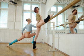 young flexible girl